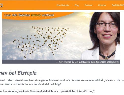 Mein neues Online-Angebot: Biztopia unterstützt Unternehmer, Freiberufler und Solopreneure beim sinnvollen Wachstum